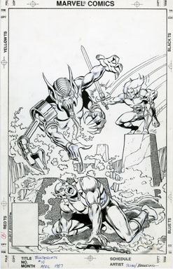 Thundercats  on Jose Delbo   Thundercats  10 Cover Original Art 1987   Lewis Wayne