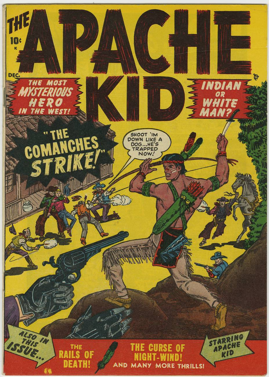 APACHE KID #53 (1st issue!)  ATLAS/MARVEL NICE Copy  NR