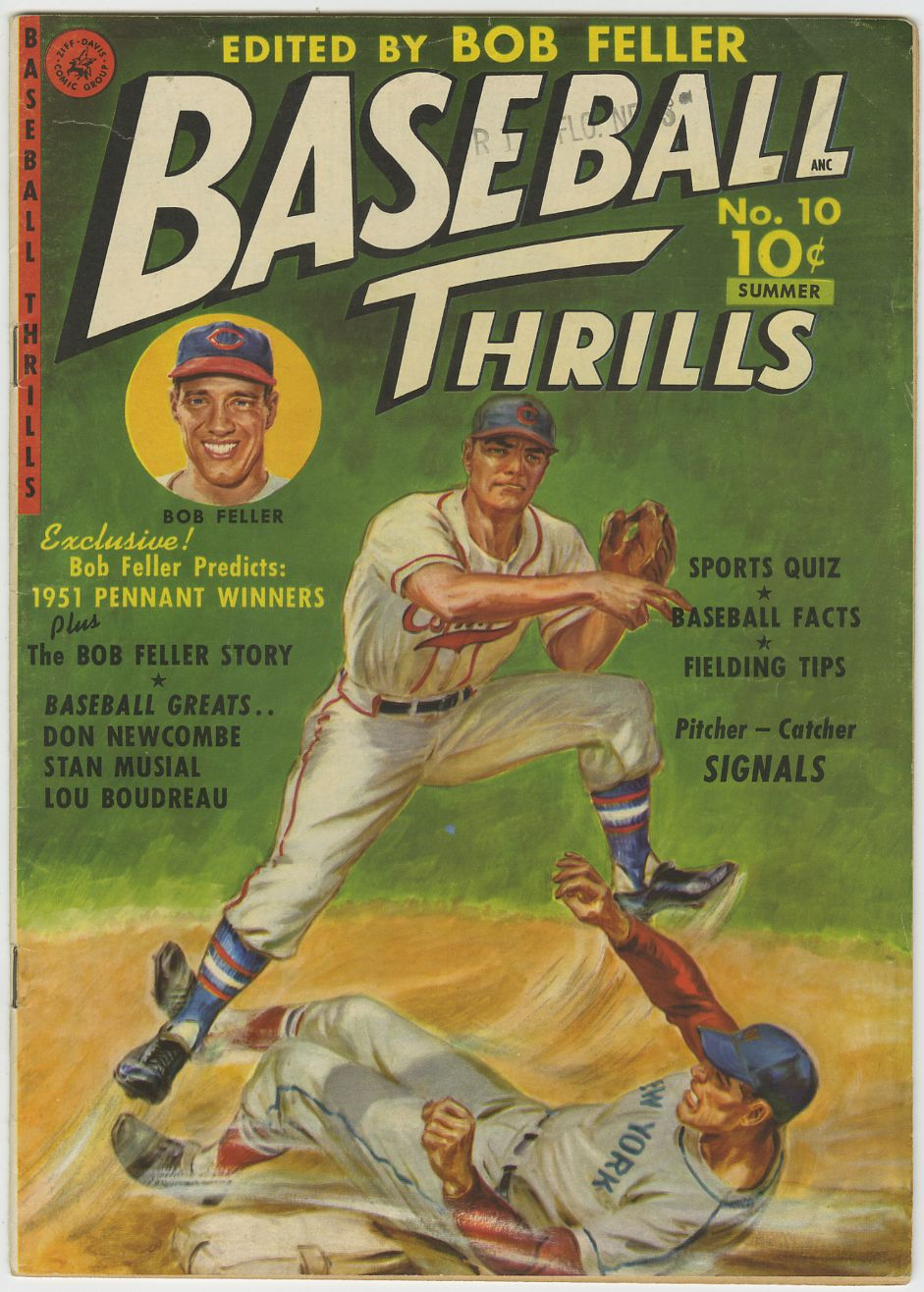 BASEBALL THRILLS #10 (1st issue!)  FELLER MUSIAL
