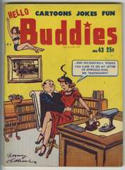 HELLO BUDDIES #96 - Adult Gag Cartoon Panels 1959