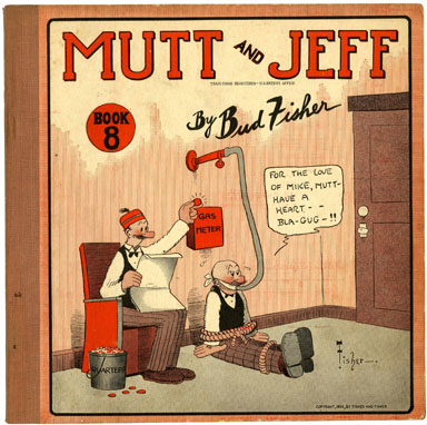 MUTT & JEFF BOOK #8 by BUD FISHER (1922) CARDSTOCK COVER