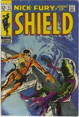 NICK FURY AGENT of SHIELD #11 - BARRY SMITH Cover -1969
