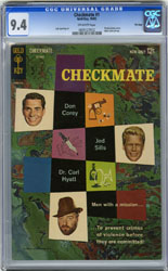 CHECKMATE #1 (1962) CGC NM 9.4 OW Pgs TV SERIES McCLURE