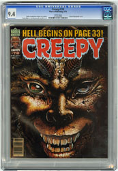 CREEPY #110 (1979) CGC NM 9.4 WHT Pgs RUDY NEBRES Art