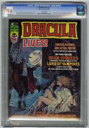 DRACULA LIVES! #5 (1974) CGC NM+ 9.6 WHT Pg BRAM STOKER