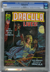 DRACULA LIVES! #7 (1974) CGC NM+ 9.6 WHT Pgs DOMINGUEZ