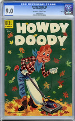 HOWDY DOODY #30 (1954) CGC VF/NM 9.0 OWW Pgs FILE COPY
