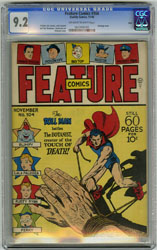 FEATURE COMICS #104 (1946) CGC NM 9.2 OWW BONDAGE OHIO