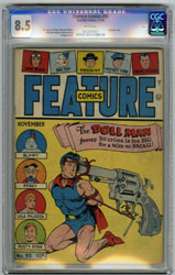 FEATURE COMICS # 93 (1945) CGC VF+ 8.5 WHT BONDAGE OHIO