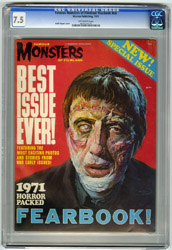 FAMOUS MONSTERS 1971 FEARBOOK CGC VF- 7.5 OW Pgs GOGOS