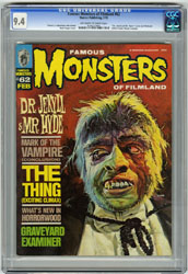 FAMOUS MONSTERS OF FILMLAND #62 (1970) CGC NM 9.4 OWW Pgs JEKYLL