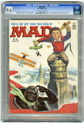 MAD #94 (1965) CGC NM+ 9.6 OWW Pgs KING KONG Cover