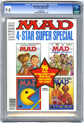 MAD SUPER SPECIAL #61 (1987) CGC NM/MT 9.8 WHT Pgs E.T.