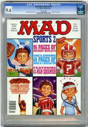 MAD SUPER SPECIAL #70 (1990) CGC NM+ 9.6 WHT Pgs SPORTS