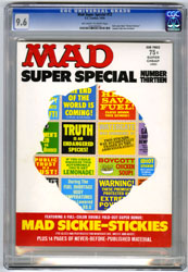 MAD SUPER SPECIAL #13 (1974) CGC NM+ 9.6 OWW Pgs