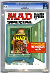 MAD SPECIAL #15 (1974) CGC NM/MT 9.8 OW Pgs NOSTALGIC 3