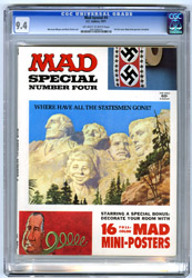 MAD SPECIAL #4 (1971) CGC NM 9.4 OWW Pgs POSTERS