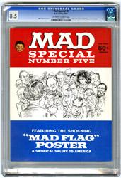 MAD SPECIAL #5 (1971) CGC VF+ 8.5 OWW Pgs NIXON/REAGAN