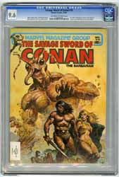 SAVAGE SWORD OF CONAN  #70 (1981) CGC NM+ 9.6 OWW Pgs