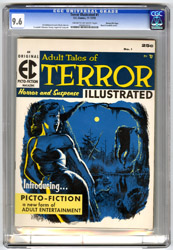TERROR ILLUSTRATED #1 (1955) CGC NM+ 9.6 COW Pgs GAINES