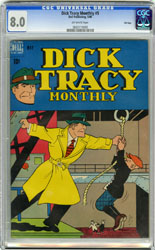 DICK TRACY MONTHLY # 5 (1948) CGC VF 8.0 OW Pg FILE