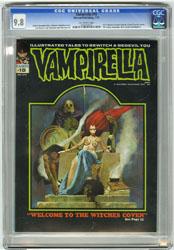 VAMPIRELLA #15 (1972) CGC NM/MT 9.8 OW Pg SANJULIAN Cvr