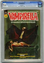 VAMPIRELLA #16 (1972) CGC NM+ 9.6 OW Pgs SANJULIAN Cvr