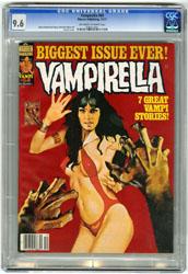 VAMPIRELLA #64 (1977) CGC NM+ 9.6 OWW Pgs ENRICH Cover