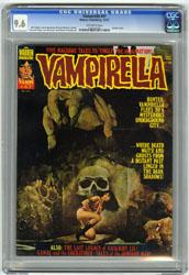 VAMPIRELLA #47 (1975) CGC NM+ 9.6 OW Pgs ENRICH COVER