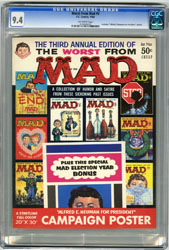 WORST FROM MAD #3 (1960) CGC NM 9.4 OW Pgs AEN for PREZ