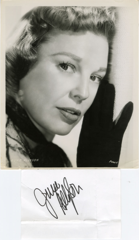 June Allyson autograph