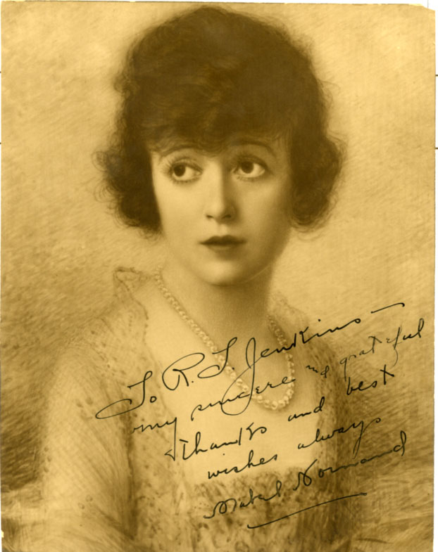 Mabel Normand autograph