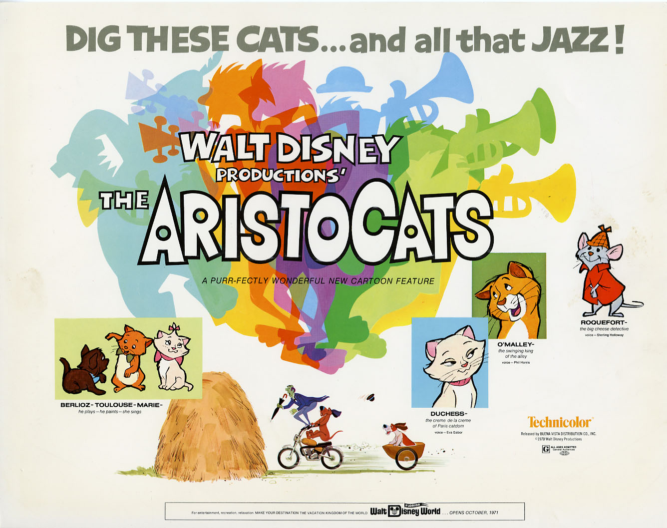 Disney Lobby Cards The Aristocats Lobby Card Set