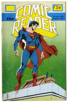 COMIC READER #146 FANZINE 1977 DON NEWTON SUPERMAN CVR