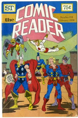 COMIC READER #153 FANZINE (1978) THOR, NEW GODS CVR