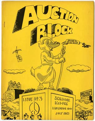 AUCTION BLOCK #3 FANZINE Scrooge McDUCK HARVARD LAMPOON