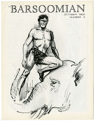 BARSOOMIAN  #3 (1969) ER BURROUGHS Fanzine HABBLITZ CVR