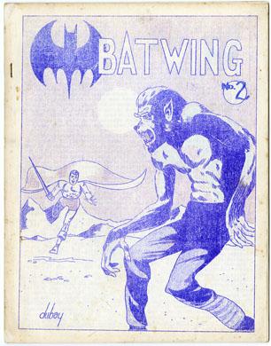 BATWING #2 FANZINE (1965) BILL DUBAY LARRY HERNDON
