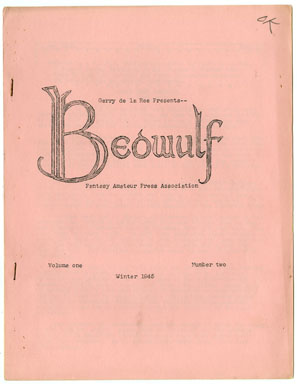 BEOWULF #2 (1945) SF / FICTION FANZINE