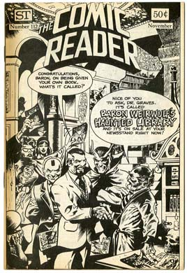 COMIC READER #112 FANZINE (1974) Don NEWTON Cover