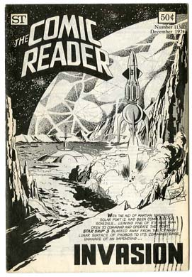 COMIC READER #113 FANZINE (1974) JIM APARO SF COVER