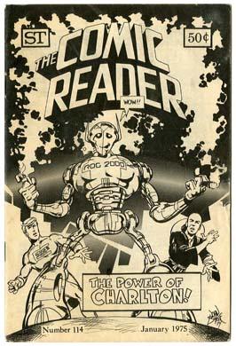 COMIC READER #114 FANZINE (1975) JOHN BYRNE Cover ROG