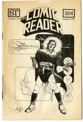 COMIC READER #123 FANZINE (1975) HOWARD CHAYKIN COVER