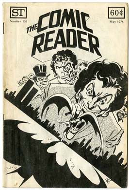 COMIC READER #130 FANZINE (1976) APARO BATMAN CVR Joker