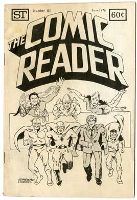 COMIC READER #131 FANZINE (1976) FAWCETT HEROES