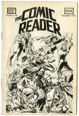 COMIC READER #135 FANZINE (1976) Larson CVR MONSTERS!