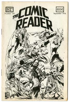 COMIC READER #135 FANZINE (1976) RICH LARSON COVER