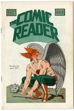 COMIC READER #142 FANZINE (1977) HAWKMAN