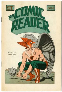 COMIC READER #142 FANZINE (1977) HAWKMAN COVER