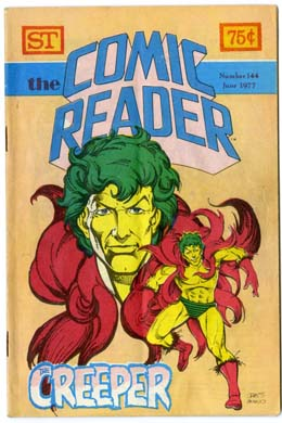 COMIC READER #144 FANZINE (1977) THE CREEPER